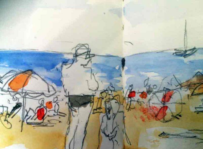 David Hayward Selected Works - Beach Marseilles