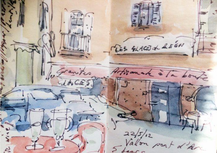 David Hayward Selected Works - Cafe at Vallon d'Arc
