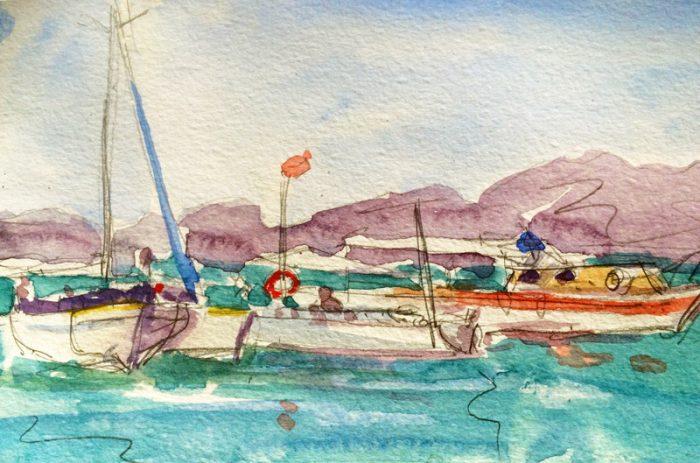 David Hayward Selected Works - Boats Sovalye Turkey