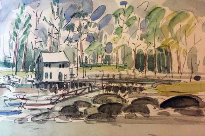 David Hayward Selected Works - Back River, Boothbay, Maine, USA 2015