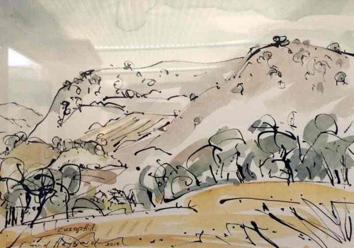 David Hayward Selected Works - Cusop Hill, Hay on Wye 2016