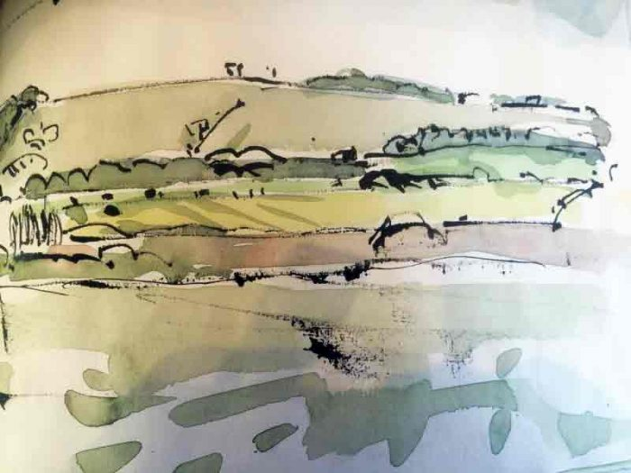 David Hayward Selected Works - River stour near Wye 2015