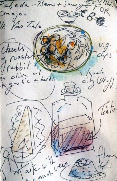 David Hayward Selected Works - Lunch at Tavern La Perca Madrid 2005