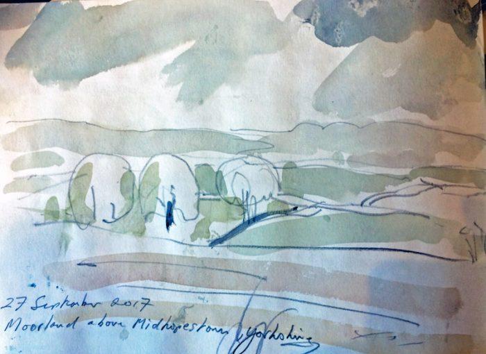 David Hayward Selected Works - Three Trees, Middlehopestone, Yorkshire 2017