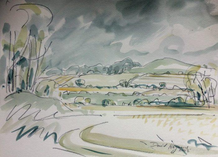 David Hayward Selected Works - Downs nr Wye 2017