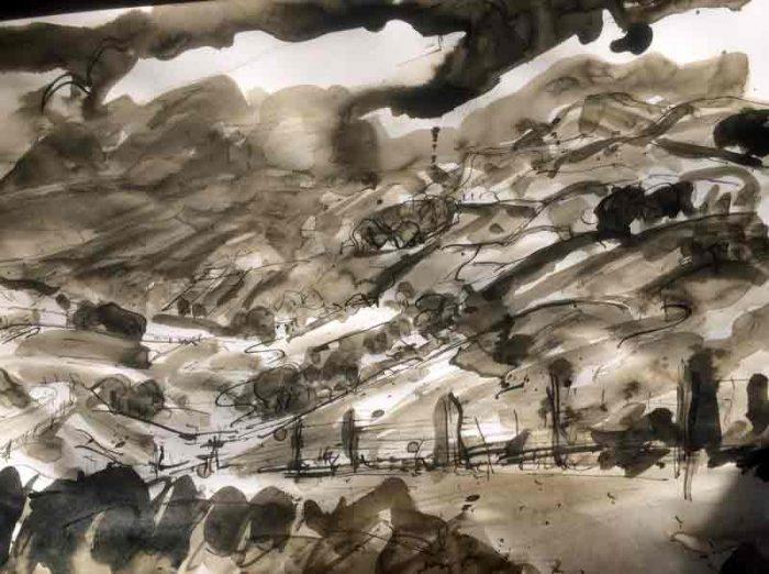 David Hayward Selected Works - Rain nr. Little Hayfield Peak District 2017