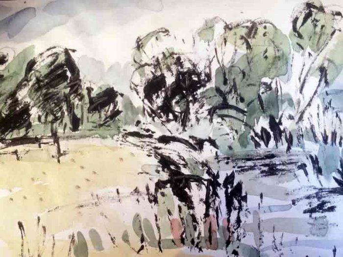 David Hayward Selected Works - The Stour at Olantigh 2016