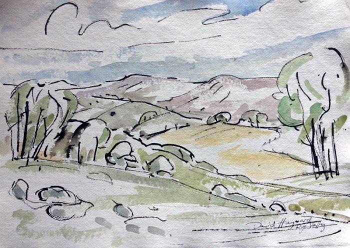 David Hayward Selected Works - Wye Valley nr LLyswen 2016