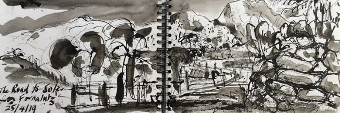 David Hayward Selected Works - Road to Soller, Mallorca 2019