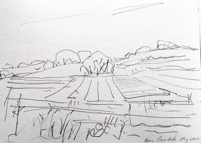 David Hayward Selected Works - Fields near Crundale, 2020