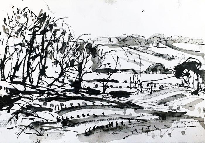 David Hayward Selected Works - Mountain Street, Chilham Feb 2021